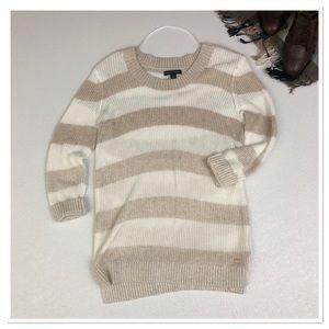 Tommy Hilfiger striped hi low tunic knit sweater